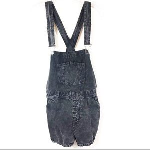 Forever21 Charcoal Gray Corduroy Overall Shorts